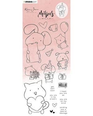 STAMPKJ14 – KJ Clear Stamp Missees Pets Missees Collection nr.14
