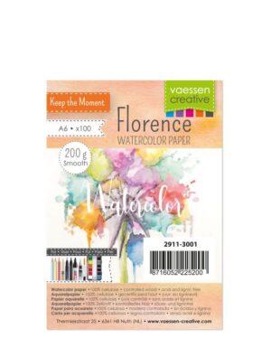 Florence • Aquarelpapier A6 smooth Off-white 200gr 100vellen