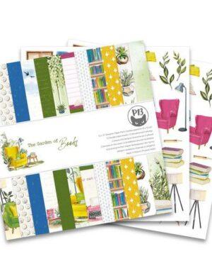 Piatek13 – Paper pad Garden of Books, 12×12'' P13-GAR-08