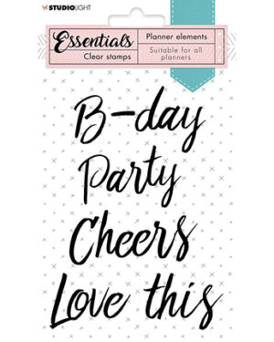 SL-PES-STAMP08 – SL Clear Stamp Text party Planner Essentials nr.08