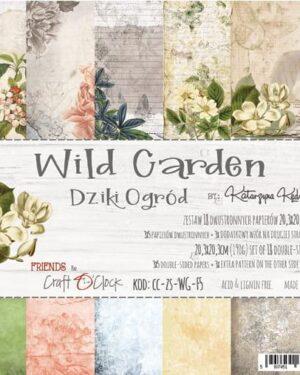 Craft O' Clock – Wild Garden – Paperpad 20.3 x 20.3 cm