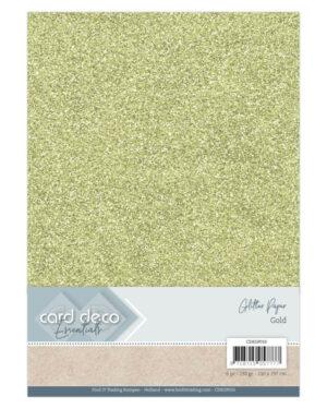 Card Deco Essentials Glitter Paper Gold