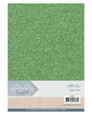 Card Deco Essentials Glitter Paper Light Green