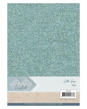 Card Deco Essentials Glitter Paper Mint