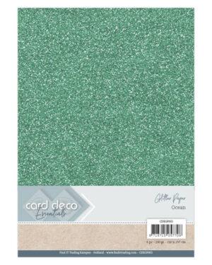 Card Deco Essentials Glitter Paper Ocean