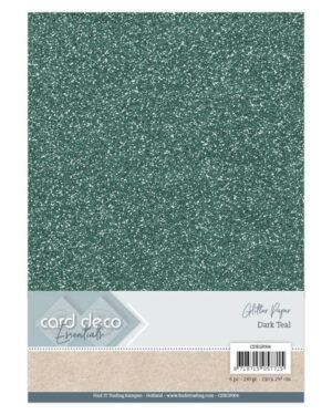 Card Deco Essentials Glitter Paper Dark Teal