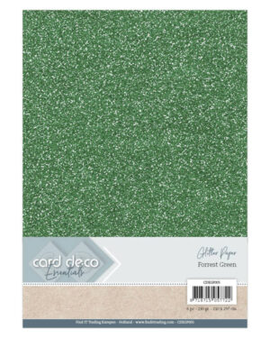 Card Deco Essentials Glitter Paper Forest Green