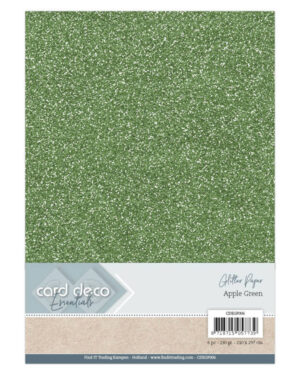 Card Deco Essentials Glitter Paper Apple Green