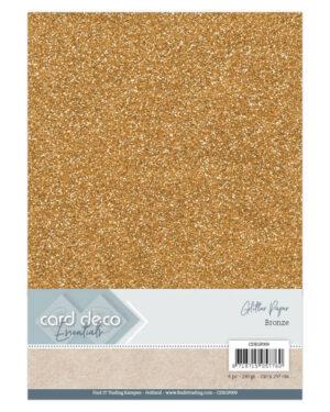 Card Deco Essentials Glitter Paper Bronze