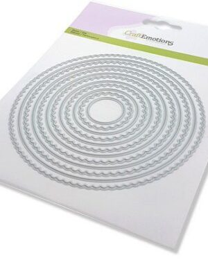 CraftEmotions Big Nesting Die – scalop cirkels Card 150×160 – scalop 2,5 – 13,2cm