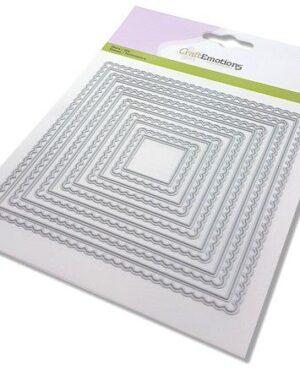 CraftEmotions Big Nesting Die – scalop vierkanten Card 150×160 – scalop 6,5 – 15cm