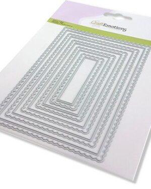 CraftEmotions Big Nesting Die – scalop rechthoeken Card 150×160 – scalop 8 – 15cm