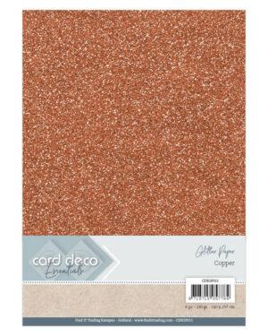 Card Deco Essentials Glitter Paper Copper