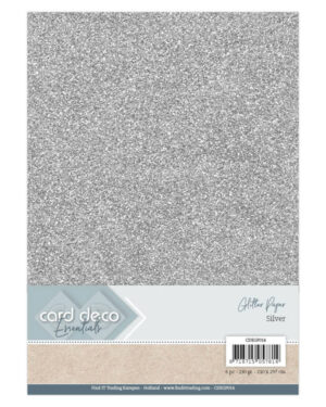 Card Deco Essentials Glitter Paper Silver