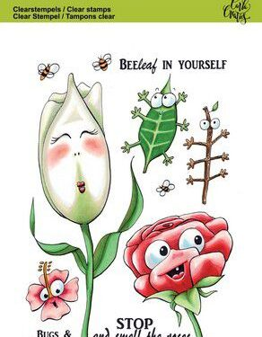 CraftEmotions clearstamps A6 – Bugs & flowers 1 Carla Creaties
