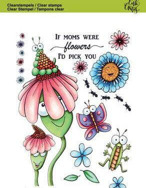 CraftEmotions clearstamps A6 – Bugs & flowers 2 Carla Creaties