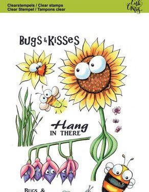 CraftEmotions clearstamps A6 – Bugs & flowers 3 Carla Creaties