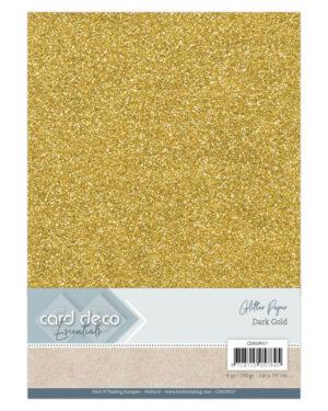 Card Deco Essentials Glitter Paper Dark Gold