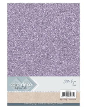 Card Deco Essentials Glitter Paper Lilac