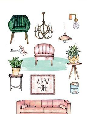 CraftEmotions clearstamps A5 – A new home