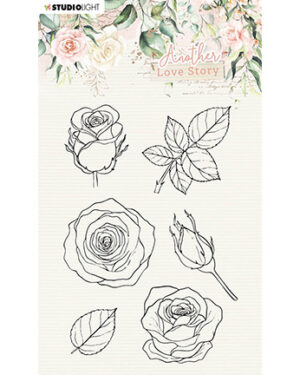SL-ALS-STAMP01 – SL Clear Stamp Rose flower Another Love Story nr.1