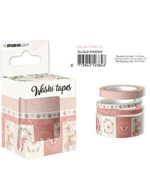 SL-ALS-WASH02 – SL Washi Tape Pink butterflies Another Love Story nr.2