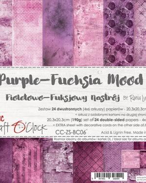 Craft O' Clock – Purple Fuchsia Mood- Paperpad 20.3 x 20.3 cm