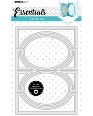 SL-ES-CD17 – SL Cutting Die Oval zig-zag cardshape Essentials nr.17