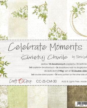Craft O' Clock – Celebrate Moments – Paperpad 20.3 x 20.3 cm