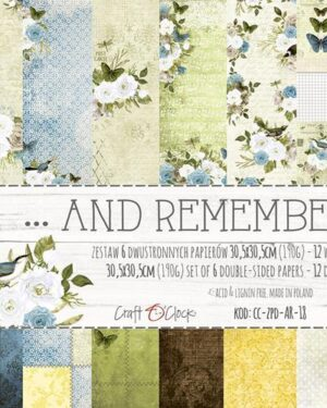 Craft O' Clock – And Remember – Paperpad 30.5 x 30.5 cm