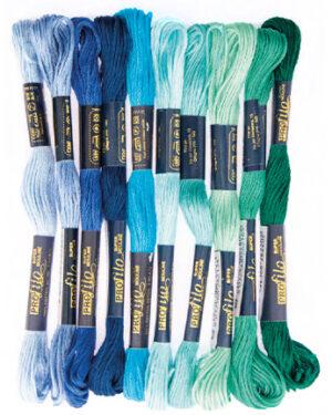 268817-9905 – Borduurgaren – blue/turquoise/green