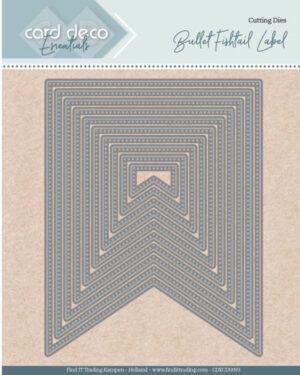 Card Deco Essentials – Nesting Dies – Bullet fishtail label