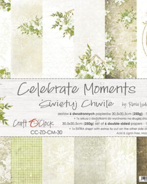 Craft O' Clock – Celebrate Moments – Paperpad 30.5 x 30.5 cm