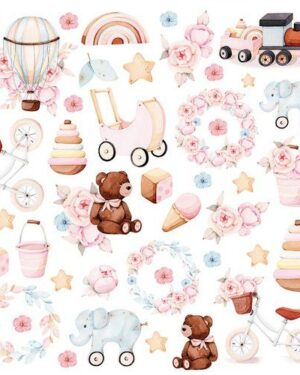Craft&You Baby Toys sheet elements to cut out 12×12