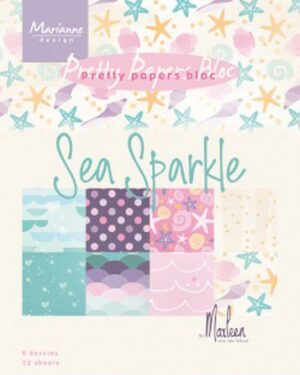 Marianne D Paperpad Sea sparkle by Marleen A5 PK9163