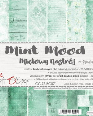 Craft O' Clock – Mint Mood – Paperpad 20.3 x 20.3 cm