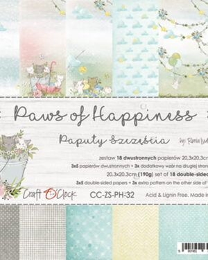 Craft O' Clock – Paws of Happiness – Paperpad 20.3 x 20.3 cm