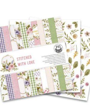 Piatek13 – Paper pad Stitched with love, 12×12''