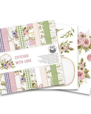 Piatek13 – Paper pad Stitched with love, 6×6''