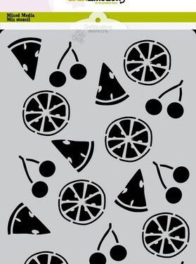CraftEmotions Mask stencil Summer Fun – fruit A5 Carla Creaties
