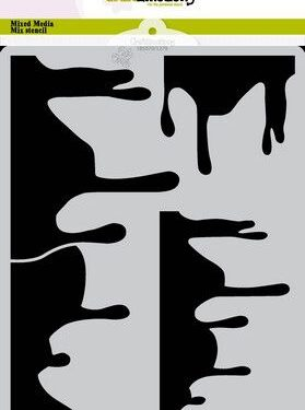 CraftEmotions Mask stencil Summer Fun – druip A5 Carla Creaties