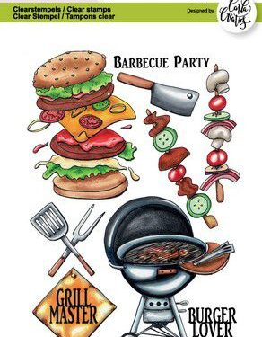 CraftEmotions clearstamps A6 – Barbecue party Carla Creaties