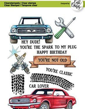 CraftEmotions clearstamps A6 – Cars Carla Creaties
