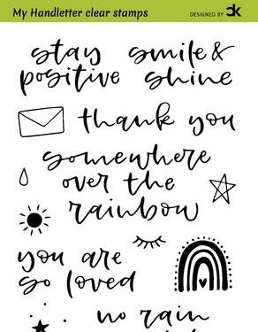 CraftEmotions clearstamps A6 – handletter – Rainbow 1 (Eng) Carla Kamphuis