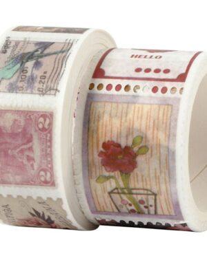 CC Hobby Washi Tape – stempel & bloemmotieven