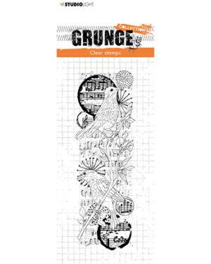 *Pre Order* SL-GR-STAMP37 – SL Clear Stamp Birds Grunge Collection nr.37