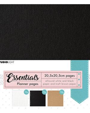 SL-PES-PLP02 – SL Planner pages Black, Craft, White Planner Essentials nr.02
