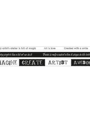 SL-GR-WASHI04 – SL Washi Tape Texts Artist's Atelier nr.04