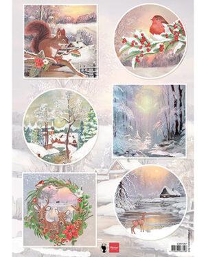 Marianne D Decoupage Winter wishes – Eekhoorn EWK1287