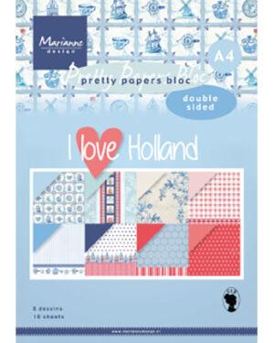 PK9168 – Papier blok I love Holland